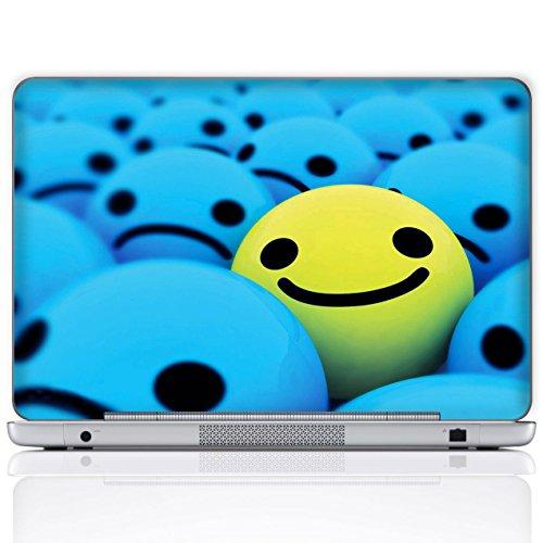 Meffort Inc 17 17.3 Inch Laptop Notebook Skin Sticker Cover Art Decal (Free Wrist Pad) - Emotional Faces Image