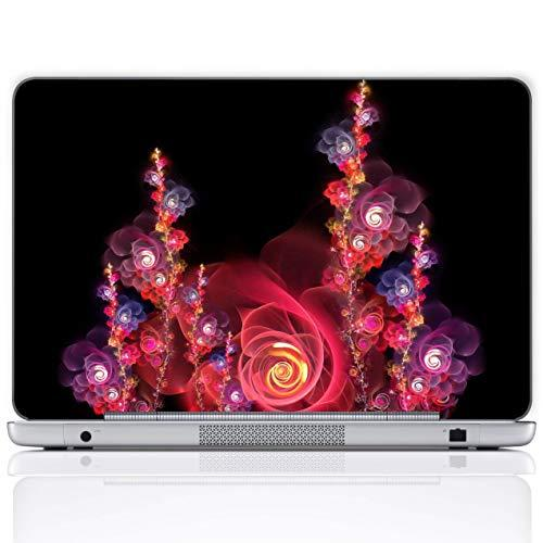 Meffort Inc 17 17.3 Inch Laptop Notebook Skin Sticker Cover Art Decal (Included 2 Wrist Pad) - Beautiful Rose