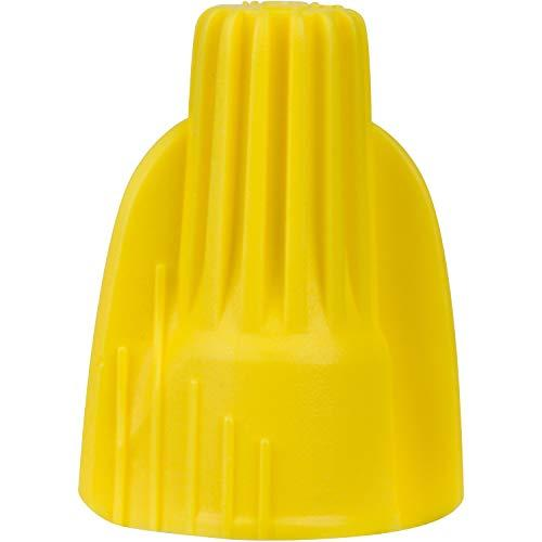 Morris Products Winged Twist Connectors - For Connecting Electrical Wiring - Flame Retardant Housing, Heavy Duty - Yellow - Max: 3 #12, Min: 2 #18 Wire Combinations - Pack Of 1