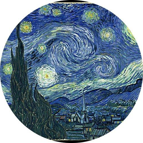 1 X Van Gogh Starry Night Round Mousepad Mouse Pad Great Gift Idea