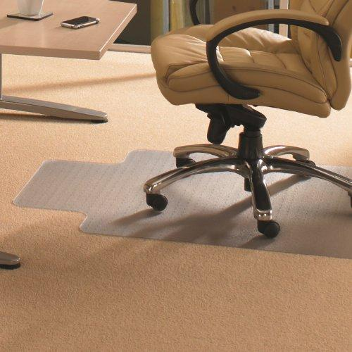 """Floortex Chair Mat With Lip 60"""" X 48"""" For Standard Pile Carpets"""