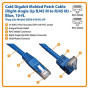 Tripp Lite Cat6 Gigabit Molded Patch Cable (Rj45 Right Angle Up M To Rj45 M) Blue, 10-Ft.(N204-010-Bl-Up)