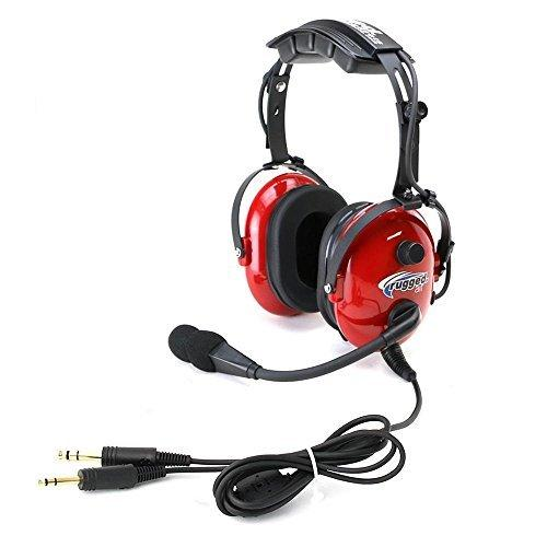 Rugged. Air Ra250 Red General Aviation Child Headset With 3.5Mm Input Jack For Music And 24Db Noise Reduction Hearing Protection