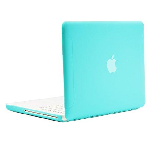 """Topcase Rubberized Hot Blue Hard Case Cover For Macbook White 13"""" (A1342/Latest) With Topcase Mouse Pad (Case Not For 1St Gen A1181 With Mouse Clicker)"""