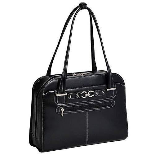 "Mcklein, L Series, Mayfair, Top Grain Cowhide Leather, 15"" Leather Ladies' Laptop Briefcase, Black (96305C)"