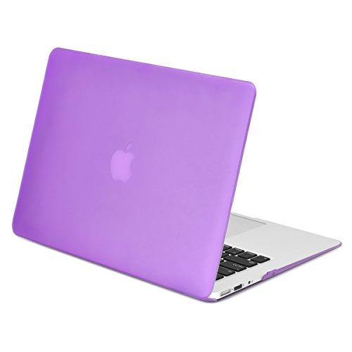 """Top Case - Classic Series Rubberized Hard Case Compatible Older Generation Macbook Air 13"""" (A1369 And A1466) (Release 2010-2017) -Purple"""