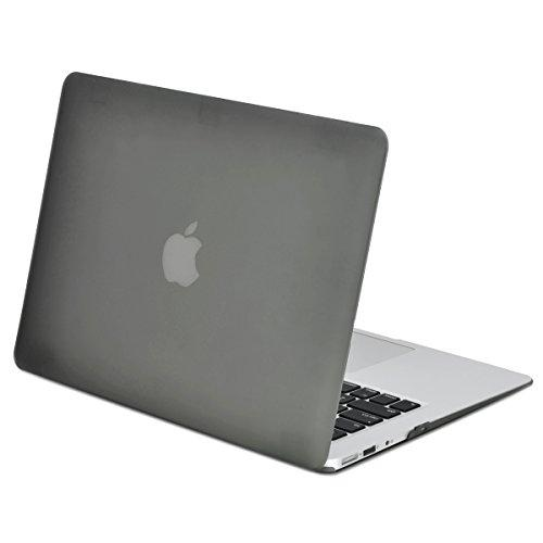 """Top Case - Classic Series Rubberized Hard Case Compatible Older Generation Macbook Air 13"""" (A1369 And A1466) (Release 2010-2017) (Grey)"""