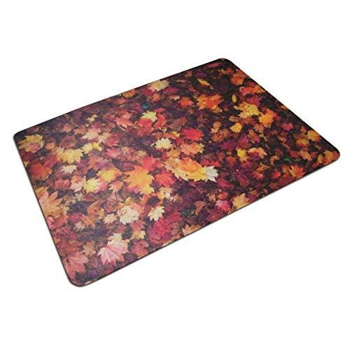 """Floortex Polycarbonate Autumn Leaves Photo Chair Mat For Carpets And Hard Floors 36"""" X 48"""""""