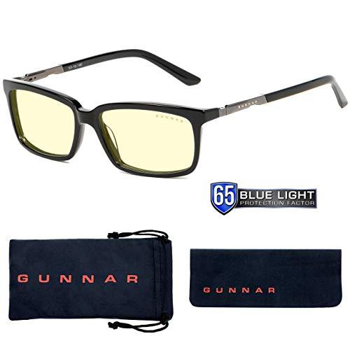 Gaming Glasses | Blue Light Blocking Glasses | Haus/Onyx By Gunnar  | 65% Blue Light Protection, 100% Uv Light, Anti-Reflective To Protect &Amp; Reduce Eye Strain &Amp; Dryness