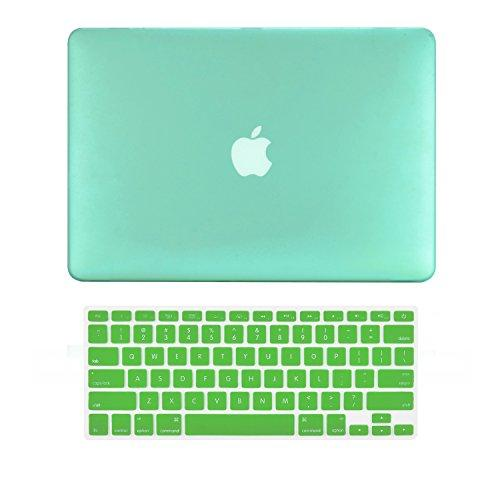 """Topcase Macbook Pro 15"""" A1398 With Retina Display 2 In 1 Rubberized Green Hard Case Cover And Keyboard Cover (Latest Version / No Dvd Drive / Release June 2012) +Topcase Mouse Pad"""