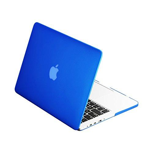 """Top Case - Classic Series Rubberized Hard Case Compatible Macbook Pro 13.3"""" (13"""" Diagonally) With Retina Display (Old Gen. 2012-2015) Model: A1425 And A1502 - Royal Blue"""