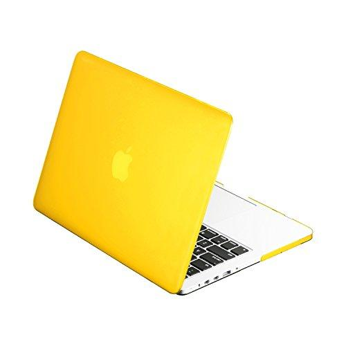 """Top Case - Classic Series Rubberized Hard Case Compatible Macbook Pro 13.3"""" (13"""" Diagonally) With Retina Display (Old Gen. 2012-2015) Model: A1425 And A1502 - Yellow"""