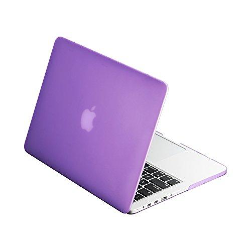 """Top Case - Classic Series Rubberized Hard Case Compatible Macbook Pro 13.3"""" (13"""" Diagonally) With Retina Display (Old Gen. 2012-2015) Model: A1425 And A1502 - Purple"""