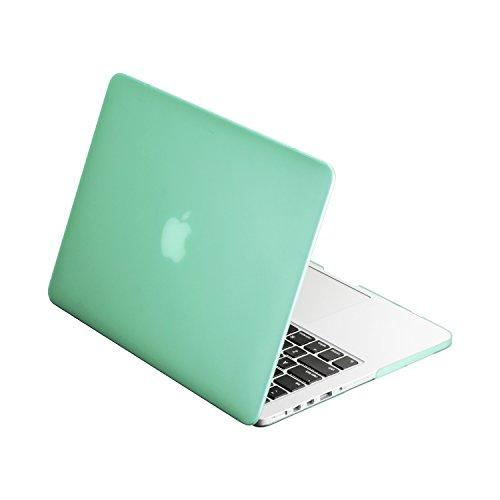 """Top Case Green Rubberized Hard Case Cover For Apple Macbook Pro 13.3"""" With Retina Display Model: A1425 And A1502 (Release 2012-2015) + Top Case Mouse Pad"""