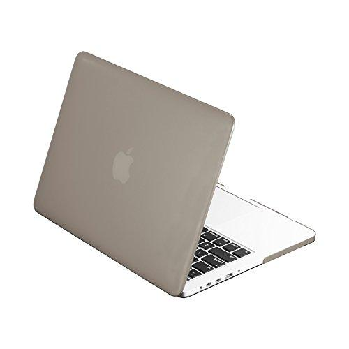 """Top Case - Classic Series Rubberized Hard Case Compatible Macbook Pro 13.3"""" (13"""" Diagonally) With Retina Display (Old Gen. 2012-2015) Model: A1425 And A1502 - Gray"""