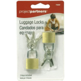 Project Partner 70609 Luggage Locks, 2-Pack