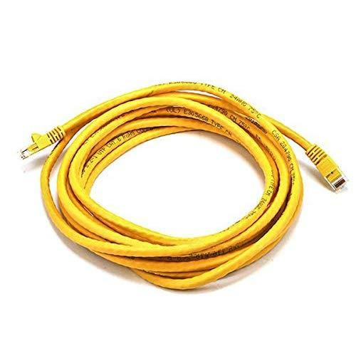 Monoprice Cat6 Ethernet Patch Cable - Network Internet Cord - Rj45, Stranded, 550Mhz, Utp, Pure Bare Copper Wire, 24Awg, 14Ft, Yellow