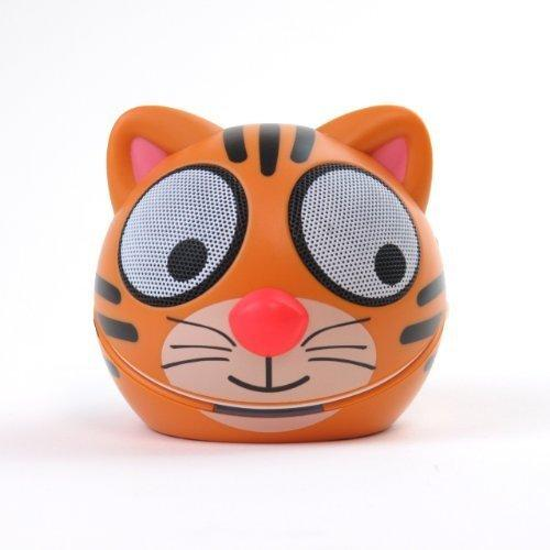 Zoo-Tunes Portable Mini Character Speakers For Mp3 Players, Tablets, Laptops Etc. (Tiger)