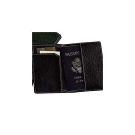 Leather Passport Cover Color: Black