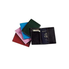 Leather Passport Cover Color: Pink