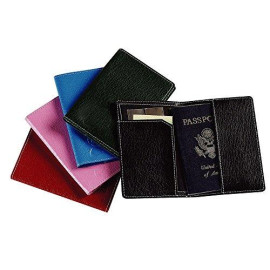 Leather Passport Cover Color: Red