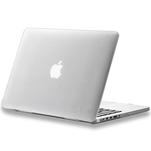 Kuzy - Older Version Macbook Pro 13.3 Inch Case (Release 2015-2012) Rubberized Hard Cover For Model A1502 A1425 With Retina Display Shell Plastic - Clear Frost