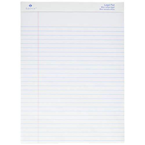 Sparco Pad, Micro-Perforated, Wide Ruled, 50 Sheets, 8-1/2 X 11-3/4 Inches, 12, We (Sprw2011)