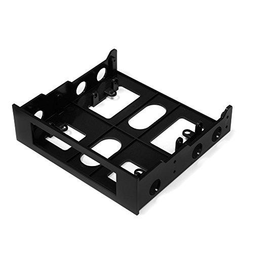 """Kingwin Ssd Hard Drive Mounting Kit Internal, Convert Any 3.5"""" Solid State Drive/Hdd Into One 5.25 Inch Drive Bay. Mounting Screws Included, Quick And Easy Installation [Hdm-228]"""