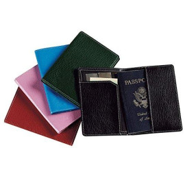 Leather Passport Cover Color: Blue