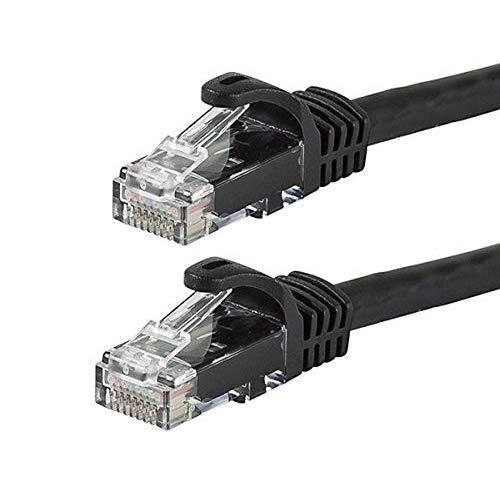 Monoprice Flexboot Cat6 Ethernet Patch Cable - Network Internet Cord - Rj45, Stranded, 550Mhz, Utp, Pure Bare Copper Wire, 24Awg, 14Ft, Black