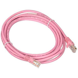 C2G 00500 Cat5E Cable - Snagless Unshielded Ethernet Network Patch Cable, Pink (9 Feet, 2.74 Meters)