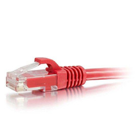 C2G 04002 Cat6 Cable - Snagless Unshielded Ethernet Network Patch Cable, Red (9 Feet, 2.74 Meters)