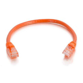 C2G 00450 Cat5E Cable - Snagless Unshielded Ethernet Network Patch Cable, Orange (12 Feet, 3.65 Meters)