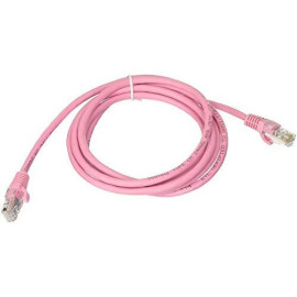 C2G 00497 Cat5E Cable - Snagless Unshielded Ethernet Network Patch Cable, Pink (6 Feet, 1.82 Meters)