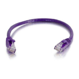 C2G/Cables To Go 00468 Cat5E Snagless Unshielded (Utp) Network Patch Cable, Purple (8 Feet/2.43 Meters)