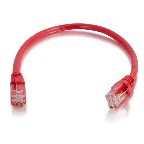 C2G 00420 Cat5E Cable - Snagless Unshielded Ethernet Network Patch Cable, Red (2 Feet, 0.60 Meters)