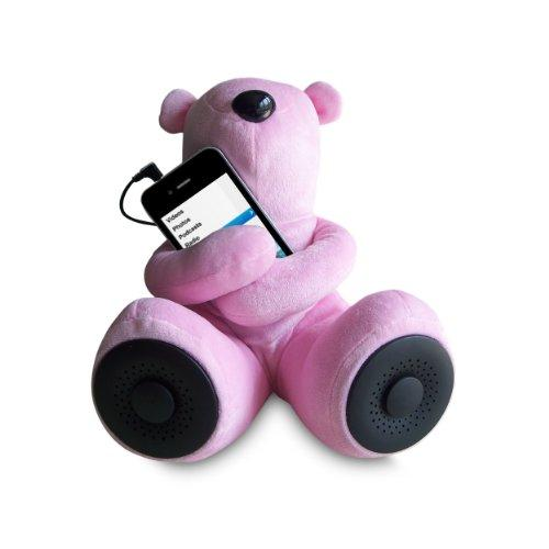 Sungale S-T1 Portable Teddy Speaker For Ipod, Iphone, Smartphone, Mp3, Media Player (Pink)