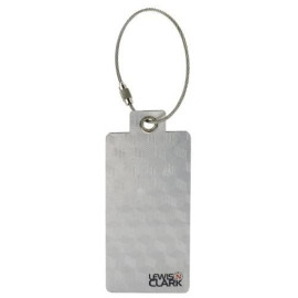 Lewis N. Clark Aluminum Tag, Silver, One Size