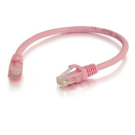 C2G 04045 Cat6 Cable - Snagless Unshielded Ethernet Network Patch Cable, Pink (3 Feet, 0.91 Meters)