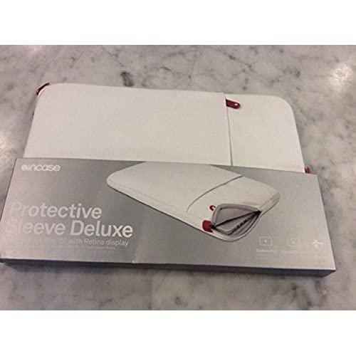 """Deluxe Carrying Case (Sleeve) For 15"""" Macbook Pro (Retina Display) - White, Cranberry"""