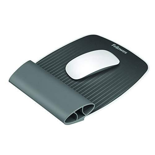 Fellowes I-Spire Series Wrist Rocker, Mouse Pad With Rocking Motion Support, Gray (9311801)