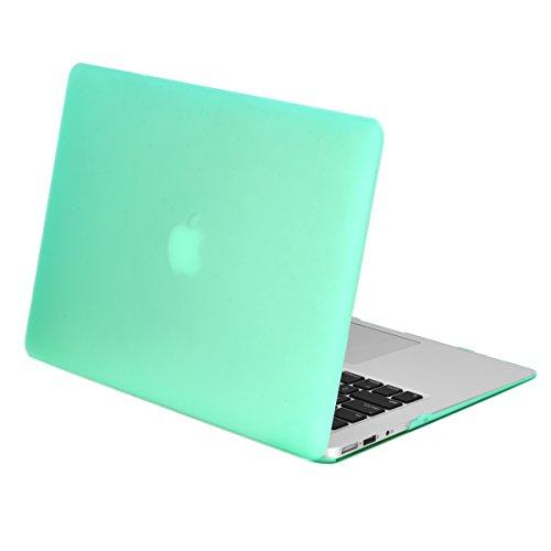 """Topcase Rubberized Hard Case Cover For Macbook Air 13"""" (A1369 And A1466) With Topcase Mouse Pad (Green)"""