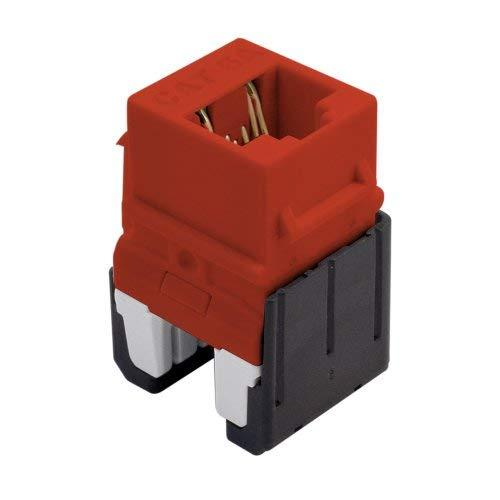 Legrand - On-Q Wp346Are Cat 6A Quick Connect Rj45 Keystone Insert, Red