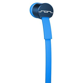 Sol Republic Jax Wired 3-Button In-Ear Headphones, Apple Compatible, Tangle Free Cable, In-Ear Noise Isolation, 4 Ear Tip Sizes, Great For Calls, 1111-36 Blue