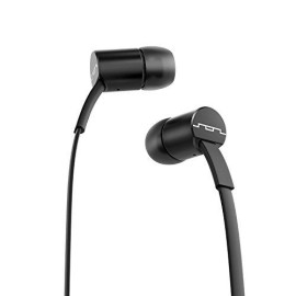 Sol Republic Jax Wired 1-Button In-Ear Headphones, Android Compatible, Tangle Free Cable, In-Ear Noise Isolation, 4 Ear Tip Sizes, Great For Calls, Black