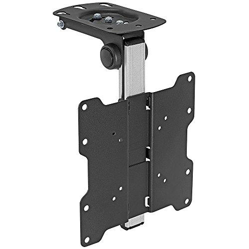 """Cmple - Ceiling Cabinet Tv Mount For 17-37"""" Led,Lcd, Plasma Tvs With Swiveling And Folding Mechanism - Black/Silver"""