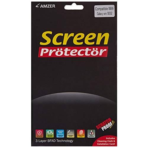 Amzer Kristal Clear Screen Protector Scratch Guard Shield For Samsung Galaxy Win Duos I8552 - Retail Packaging - Clear