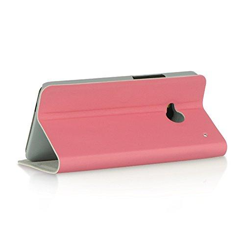 Dream Wireless Stand Dolce Pouch For Htc One M7 - Retail Packaging - Pink
