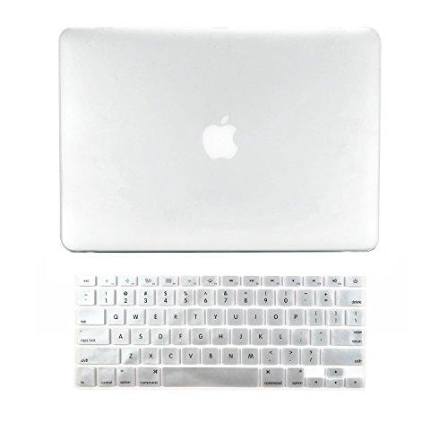 Topcase 2 In 1 Ultra Slim Light Weight Rubberized Hard Case Cover And Keyboard Cover For Macbook Pro 13-Inch