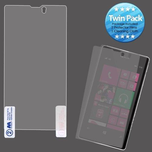 Mybat Nk521Lcdscprtw Lcd Screen Protector For Nokia Lumia 521 - Retail Packaging - Twin Pack